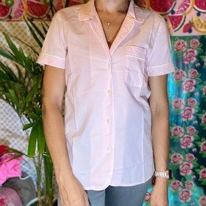J. crew Baby pink Sleep button down shirt pajama